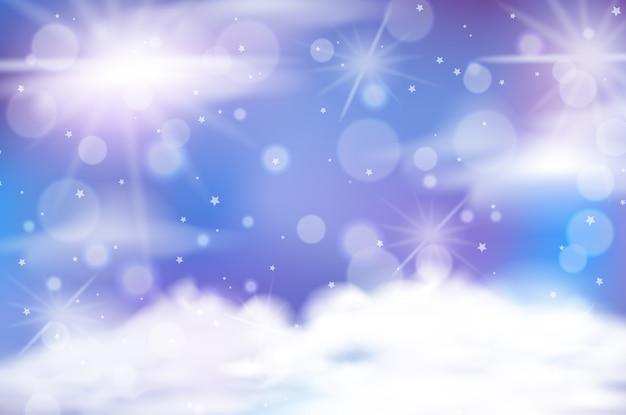 Priorità bassa del cielo pastello di fiaba magica