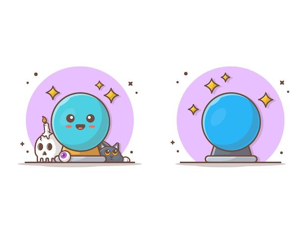 Magic glass ball