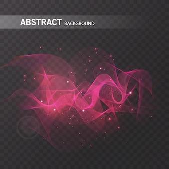 Effetto luminoso magico su sfondo trasparente per il tuo design, colorato effetto astratto.
