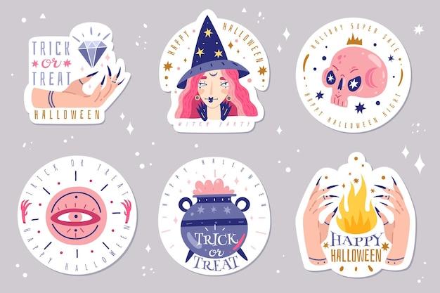 Icone magiche doodles emblemi