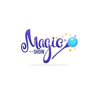 Spettacolo di magia, composizione di lettere per il tuo logo, emblema, invito