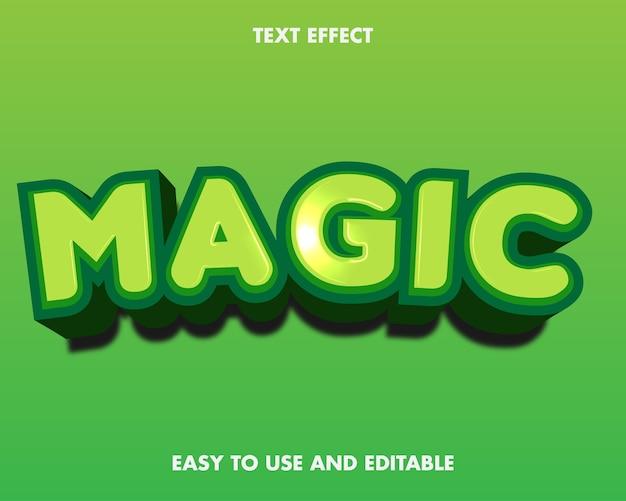 Effetto di testo magico. stile del carattere modificabile.