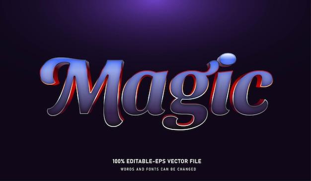 Carattere modificabile effetto testo magic