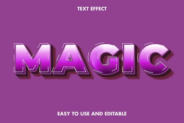 Effetto di testo magico, testo modificabile.