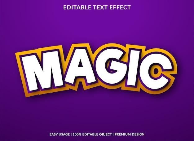 Stile premium modello di effetto testo magico