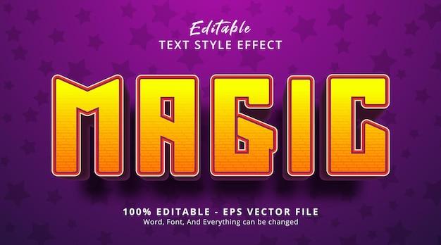 Testo magico sullo stile dell'evento del titolo, effetto di testo modificabile