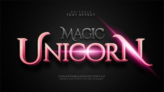 Effetto di testo magico unicorno