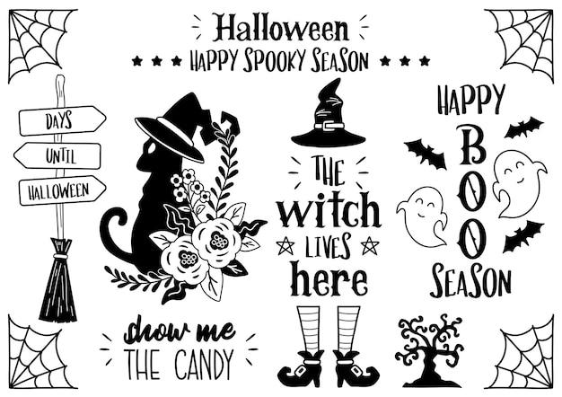 Illustrazione magica di citazione di halloween vettore per banner, poster, flyer