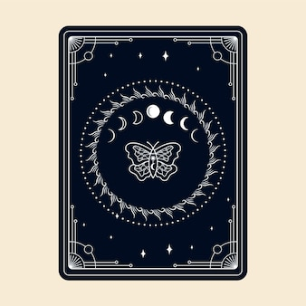 Tarocchi magici esoterico occulto boho lettore spirituale stregoneria cristallo magico e simbolo magico
