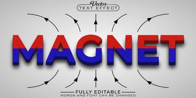 Modello di effetto di testo modificabile magnete