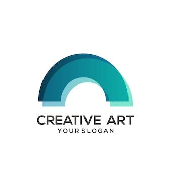 Design colorato sfumato con logo magnetico