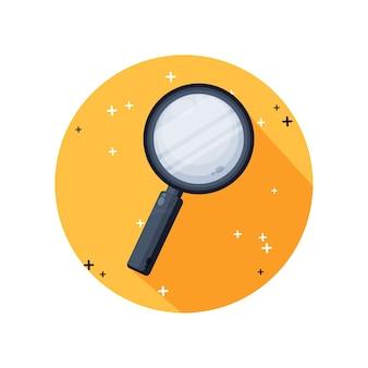 Disegno dell'icona di lente di ingrandimento Vettore Premium