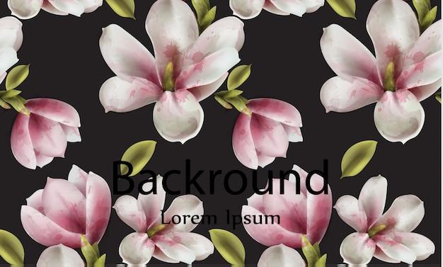 Acquerello di sfondo di magnolia