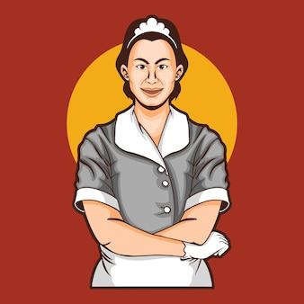 Mascotte della cameriera