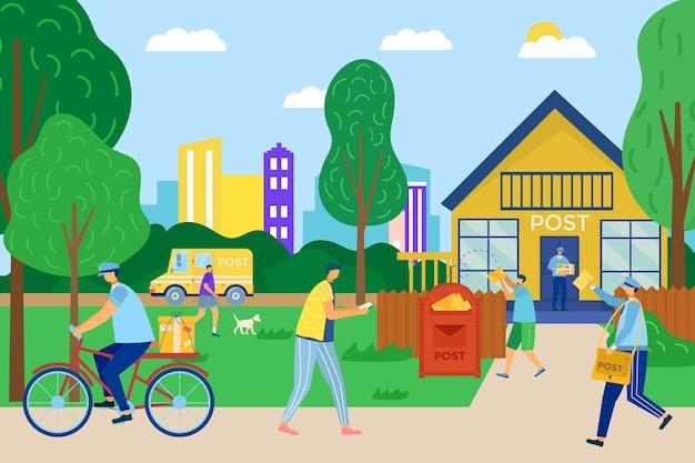 Illustrazione del servizio di consegna della posta