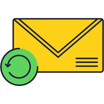 Icona della posta, illustrazione della lettera di notifica della posta in arrivo del nuovo messaggio di vettore. avviso via e-mail, simbolo di ricezione della newsletter dell'indirizzo