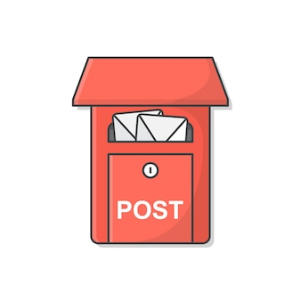Cassetta postale . casella postale. cassetta delle lettere piena