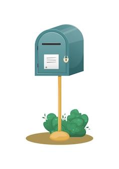 Cassetta postale con un foro per le lettere come consegna di lettere e pacchi a casa tua
