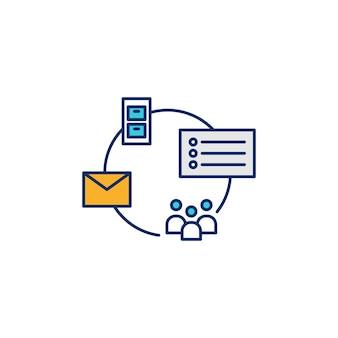 Illustrazione dell'icona di vettore di archiviazione della lista di indirizzi