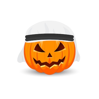 Il simbolo principale della vacanza happy halloween. zucca araba.