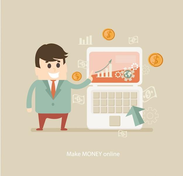 Fare soldi online.