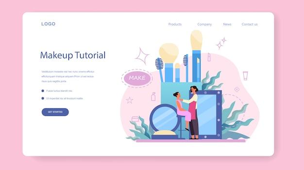 Make up artist concept banner web o pagina di destinazione