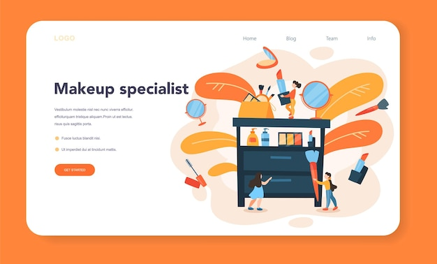 Make up artist banner web o pagina di destinazione
