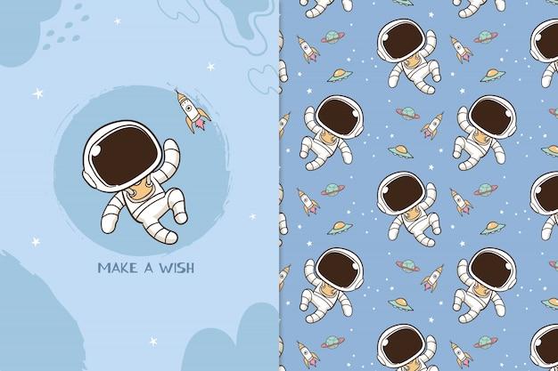 Esprimere un desiderio modello di astronauta