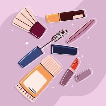 Icone cosmetiche per il trucco