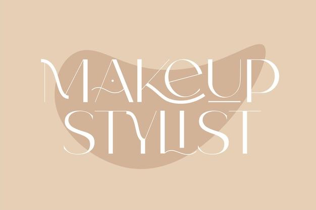 Stilista di trucco moda e citazioni di bellezza illustrazione vettoriale tipografia per poster banner