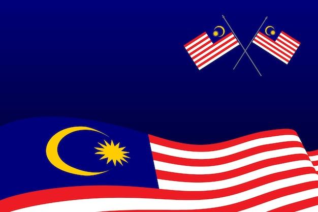 Illustrazione del disegno dell'icona di vettore della bandiera della malesia template
