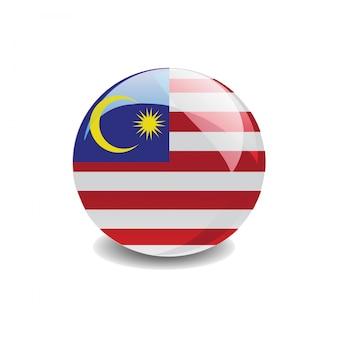 Vettore di bandiera della malesia