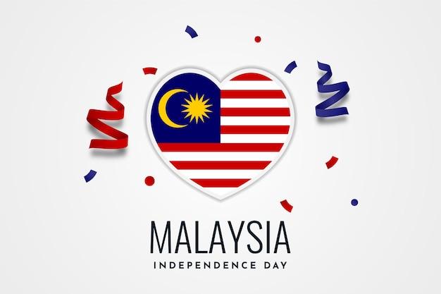 Disegno del modello di carta per la celebrazione del giorno dell'indipendenza della malesia