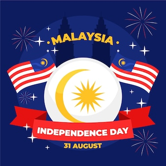 Concetto di festa dell'indipendenza della malesia