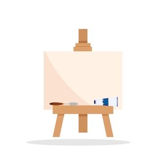 Malbert con vernici in stile moderno su sfondo bianco. grafica vettoriale isolata di arte moderna.