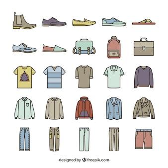 Maschio icone della moda