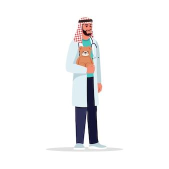 Pediatra maschio semi rgb illustrazione a colori