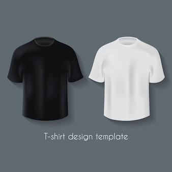 Modello di disegno di magliette maschili set in due colori per la tua illustrazione pubblicitaria