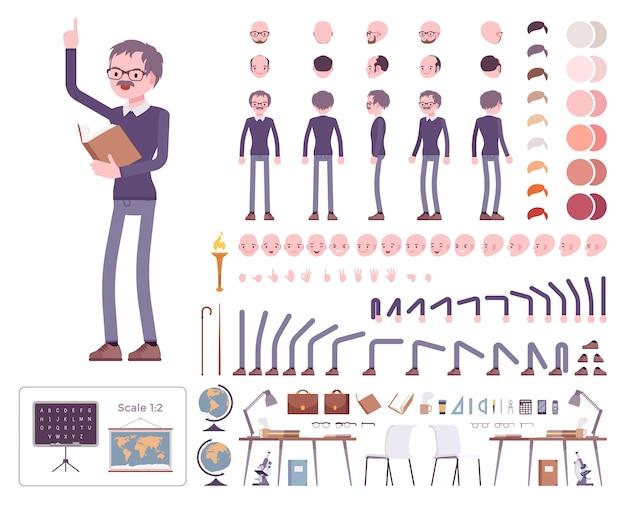 Set di creazione del personaggio insegnante maschio