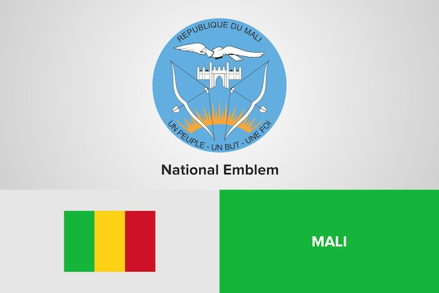 Modello di bandiera nazionale dell'emblema del mali