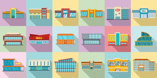 Set di icone del centro commerciale
