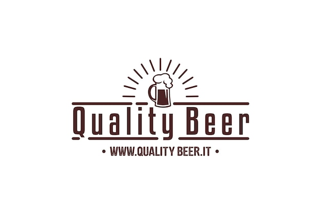 Birra di malto nell'illustrazione di stile della linea