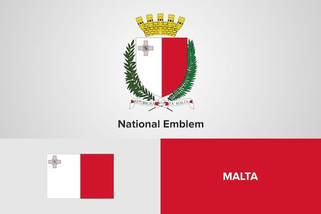 Modello di bandiera nazionale emblema di malta