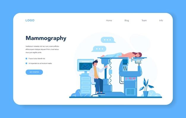 Banner web o pagina di destinazione per mammologo. io