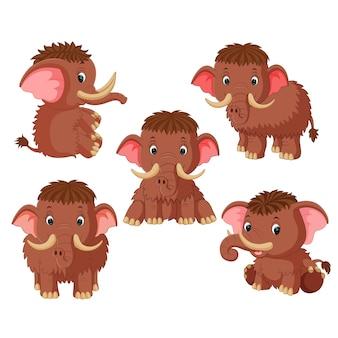 Cartone animato di mammut