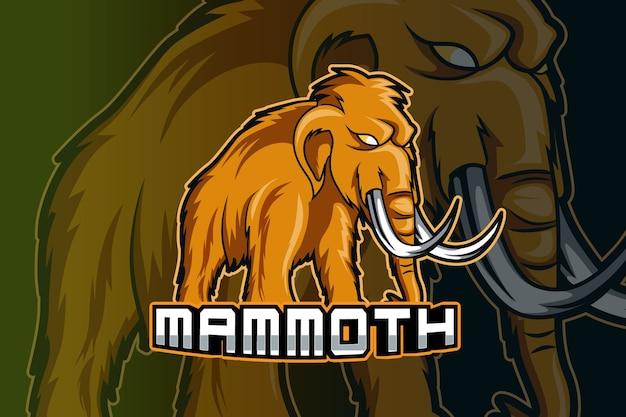 Modello di logo della squadra di e-sport mammut