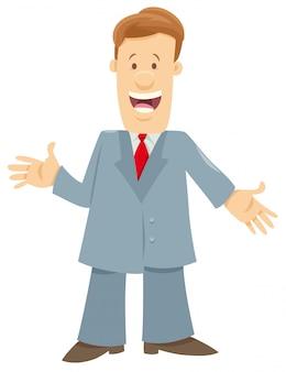 Carattere dell'uomo o dell'uomo d'affari che dà un discorso