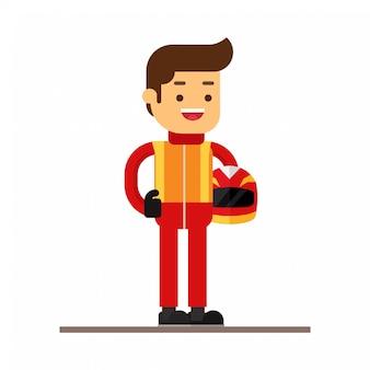 Icona di avatar personaggio uomo. gara sportiva