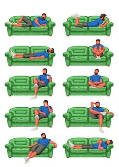 Set uomo sul divano