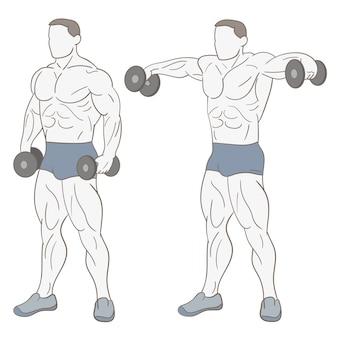 Uomo che fa esercizi fisici